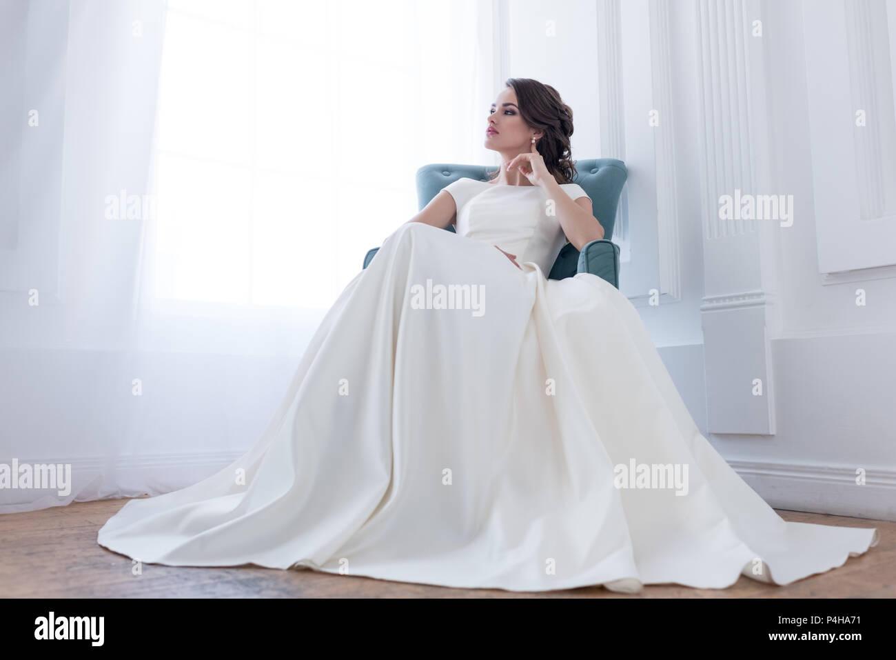 Attractive Brute Woman In Wedding Dress Sitting Armchair: Haute Couture Wedding Dress Sitting At Reisefeber.org