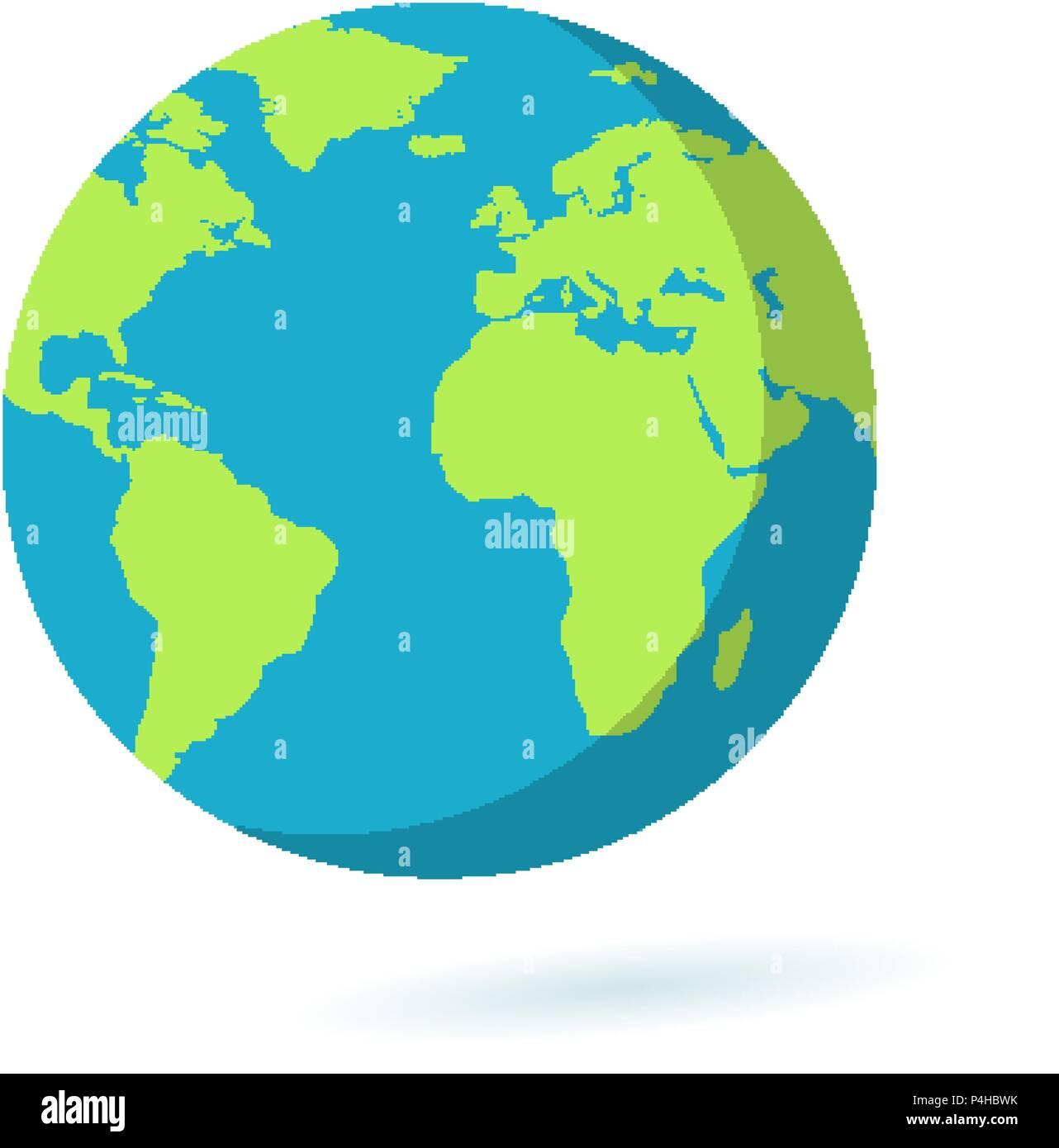 Earth globe flat icon — Stock Vector © game_gfx #51819311   Earth Flat Icon Eps