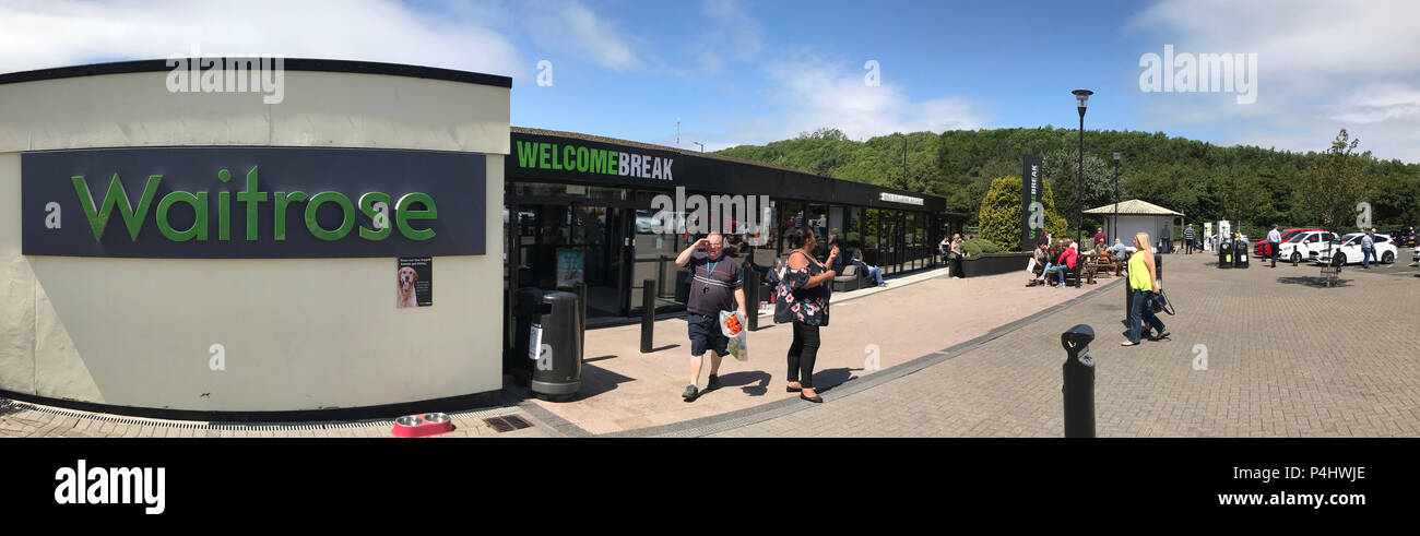 Welcome Break, Michaelwood Services - GL11 6DD. Stock Photo