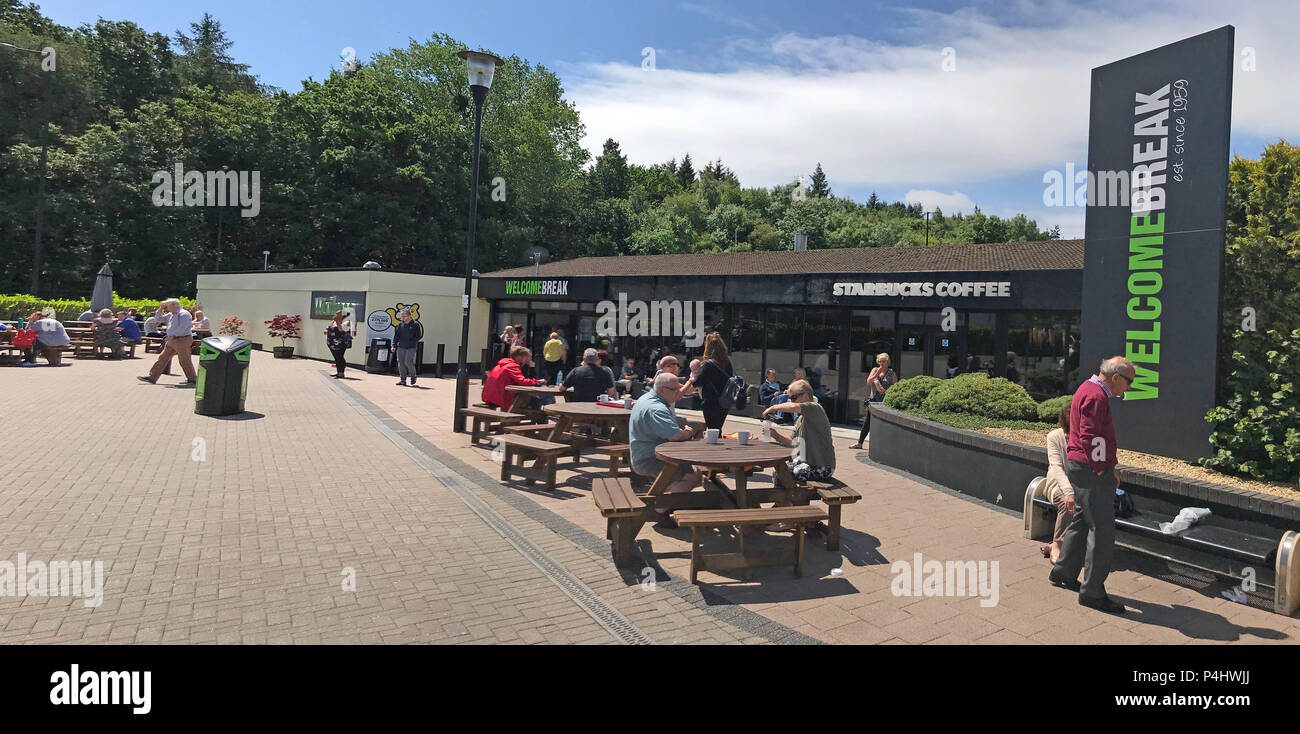 Welcome Break, Michaelwood Services - GL11 6DD Stock Photo