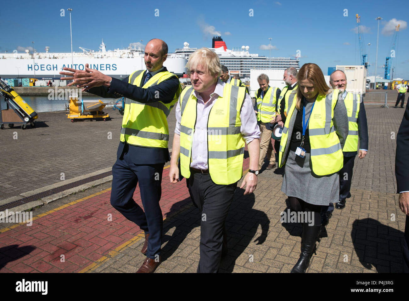 Foreign Secretary Boris Johnson During His Visit To The National Oceanography Centre In Southampton Ahead Of The Forthcoming Fco Oceans Strategy Stock Photo Alamy