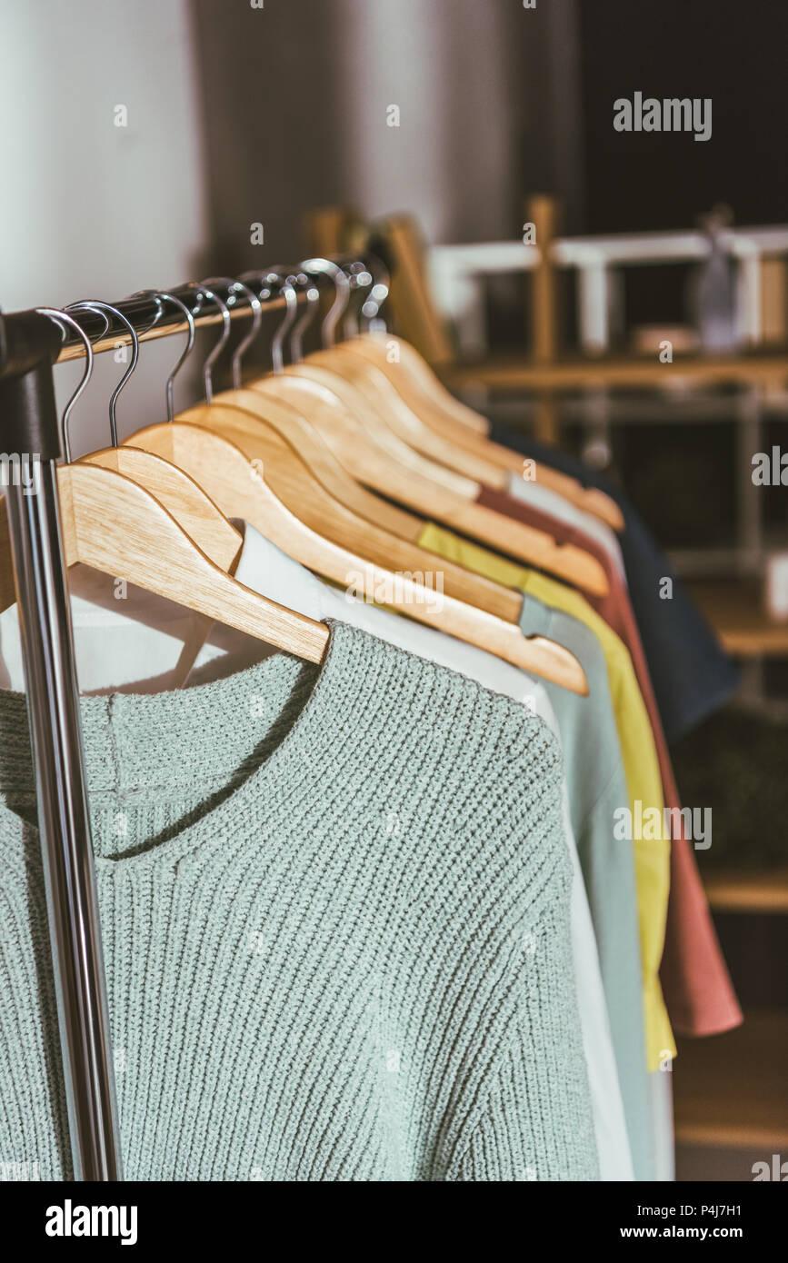Shirts Hangers Stock Photos & Shirts Hangers Stock Images - Alamy