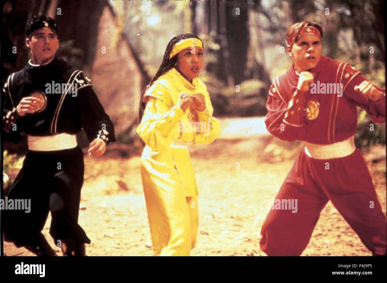 Original Film Title: MIGHTY MORPHIN POWER RANGERS: THE MOVIE.  English Title: MIGHTY MORPHIN POWER RANGERS: THE MOVIE.  Film Director: BRYAN SPICER; STEVE WANG.  Year: 1995.  Stars: KARAN ASHLEY; STEVE CARDENAS; JOHNNY YONG. Credit: 20TH CENTURY FOX / Album - Stock Image