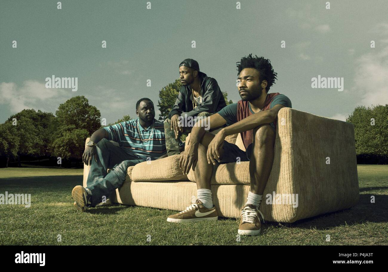 Original Film Title: ATLANTA.  English Title: ATLANTA.  Film Director: DONALD GLOVER.  Year: 2016.  Stars: DONALD GLOVER; BRIAN TYREE HENRY; LAKEITH STANFIELD. Credit: FX PRODUCTIONS / Album - Stock Image