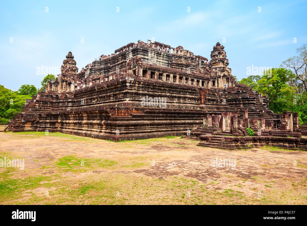 The Baphuon is a temple at Angkor, Cambodia. Baphuon is located in Angkor Thom, northwest of the Bayon. - Stock Image