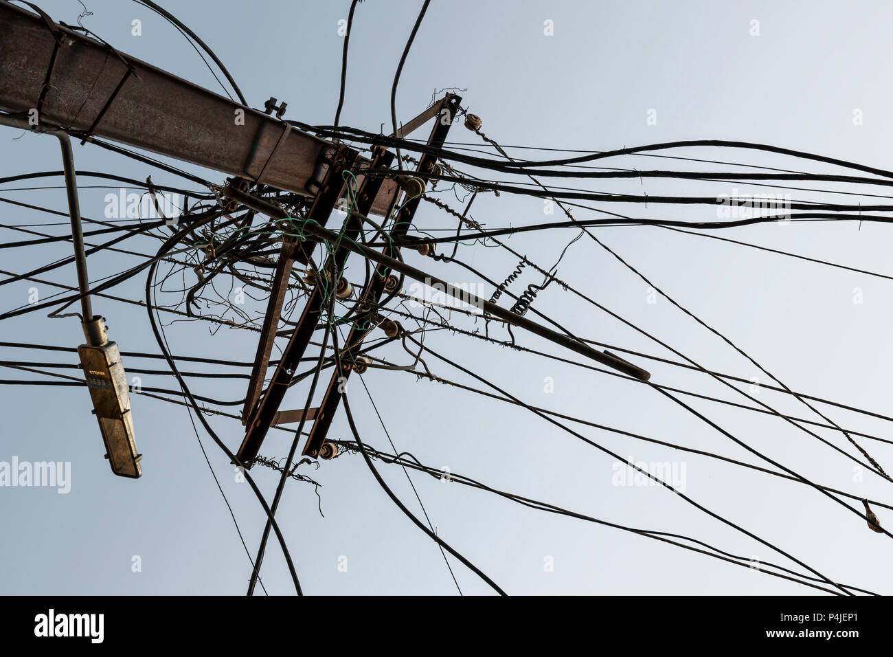 Electric Transmission Line India Stock Photos & Electric ...