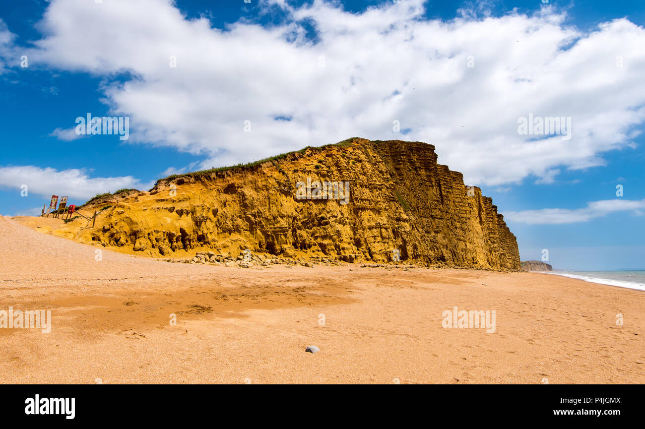 Cliffs at West Bay, near Bridport, Dorset, UK. - Stock Image