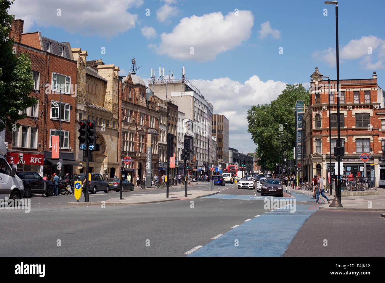 Whitechapel High Street in London E1 Stock Photo