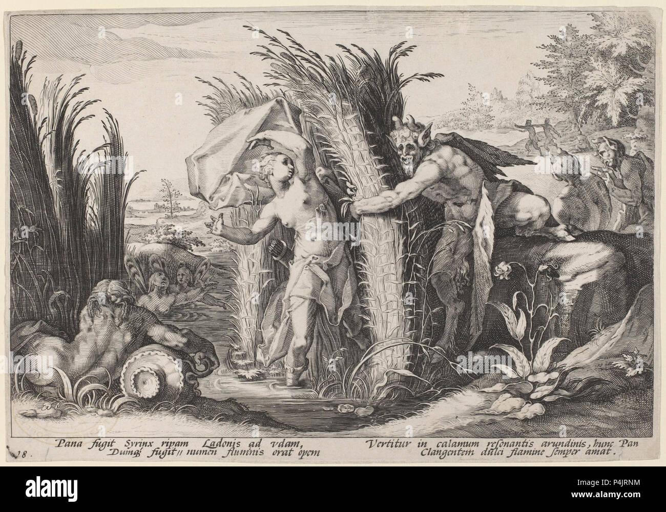 1600ca. Ovid's Metamorphoses - etching - Washington DC, NGA (2). - Stock Image