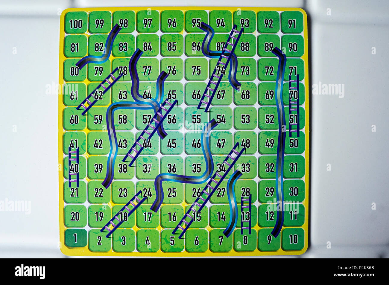 chutes ladders board game competition numbers stock photo 209402659