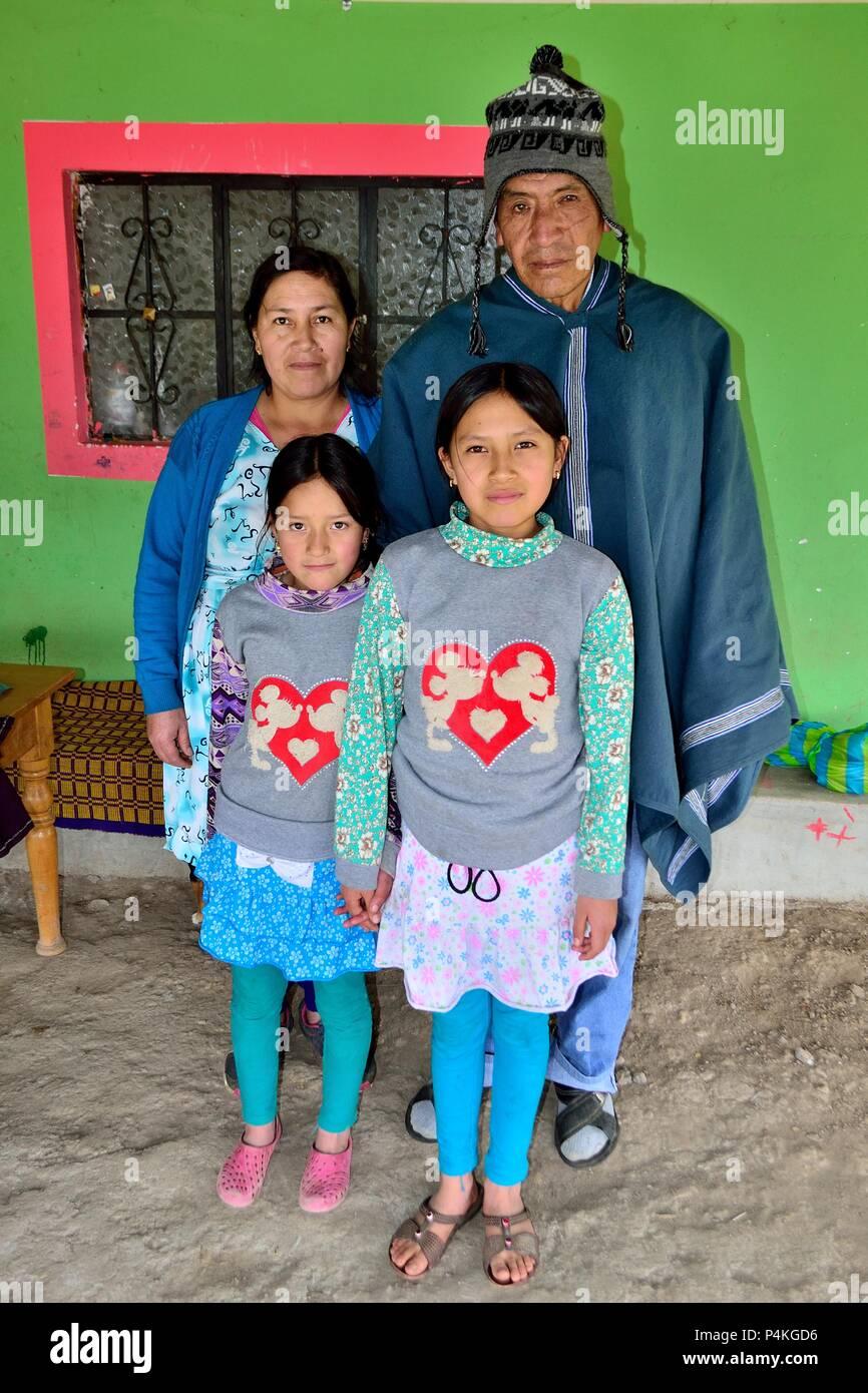 Farmer in SALALA ' Las Huaringas '  - HUANCABAMBA.. Department  of Piura .PERU                  - Stock Image
