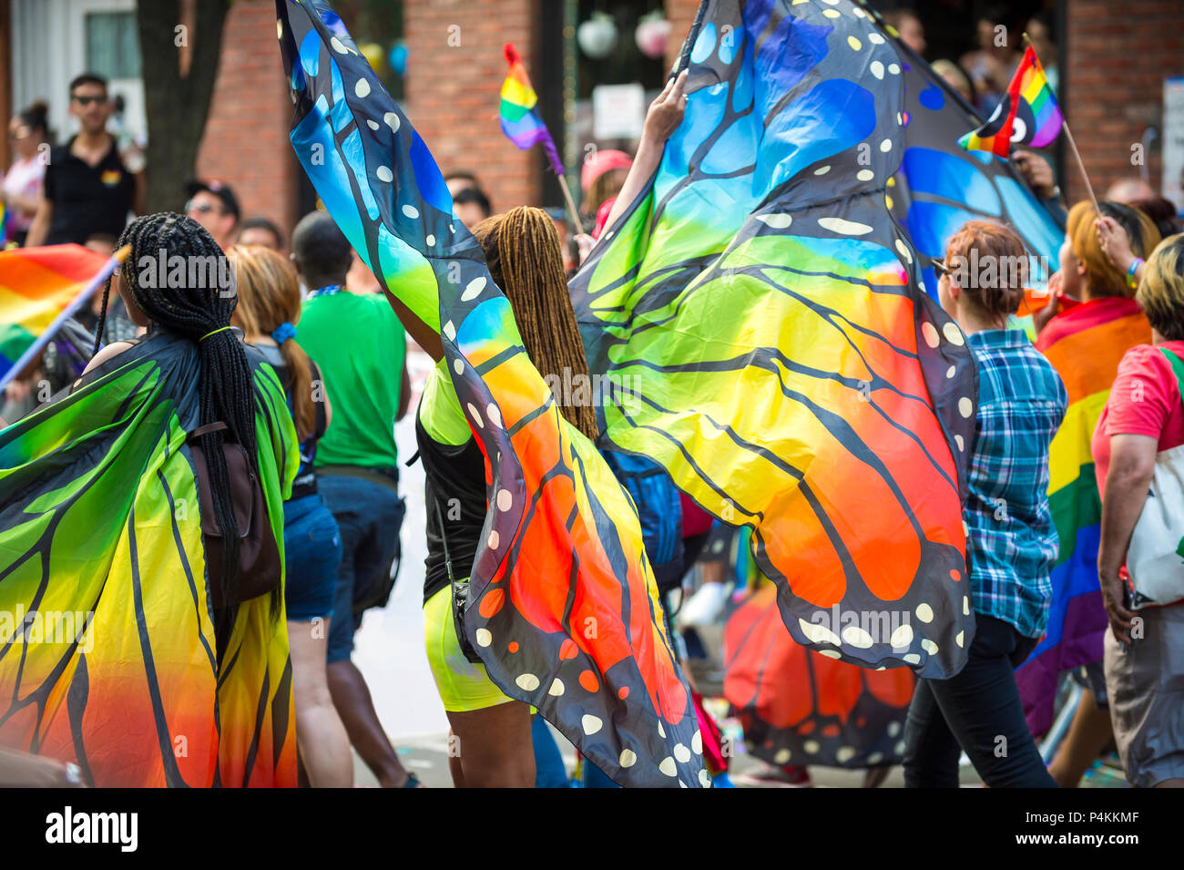 Rainbow Feather Angel Wings Halloween Gay LGBT Pride Party Festival Fancy Dress