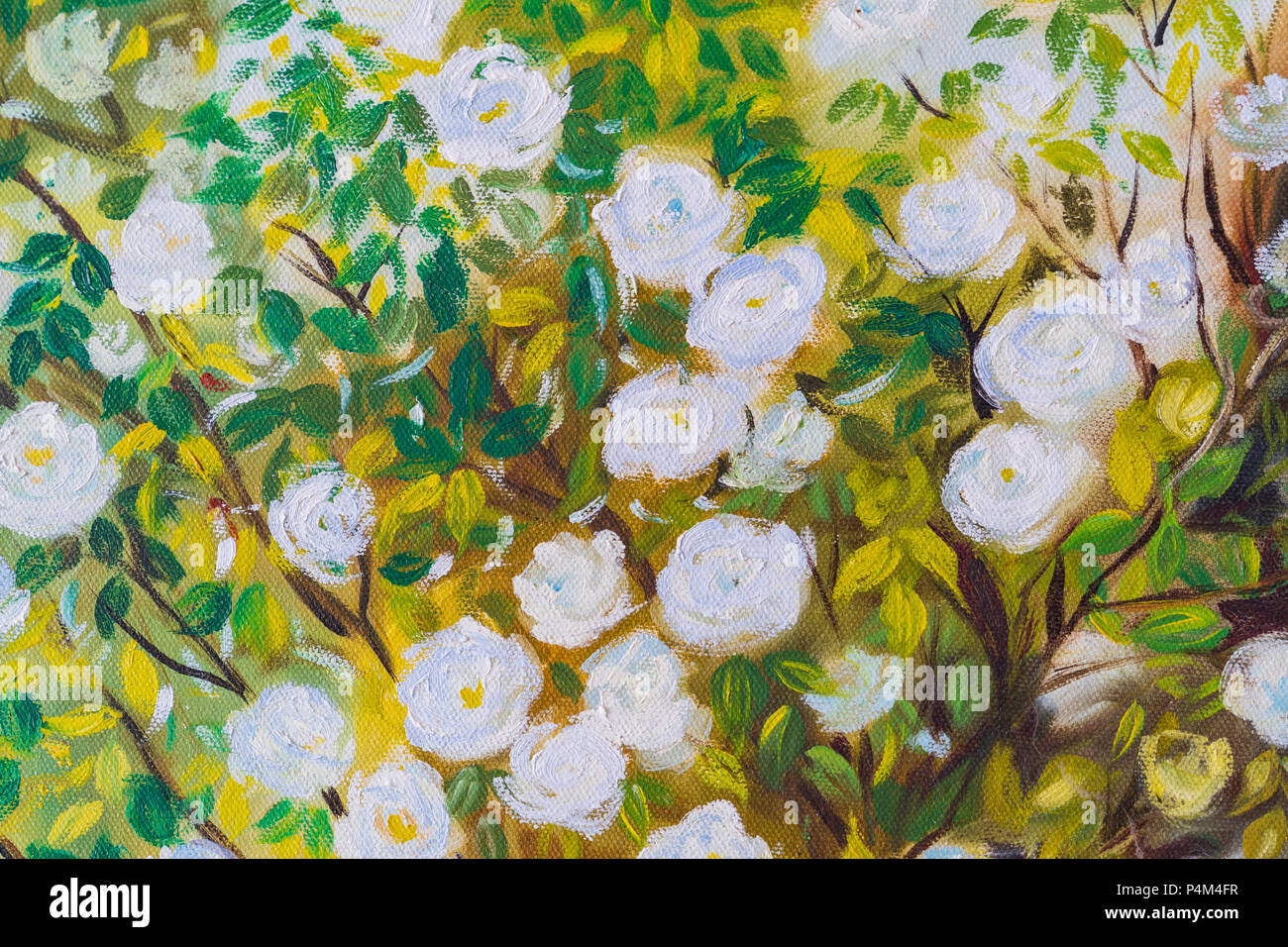 Acrylic Paintings Of Flowers Stock Photos & Acrylic Paintings Of ...