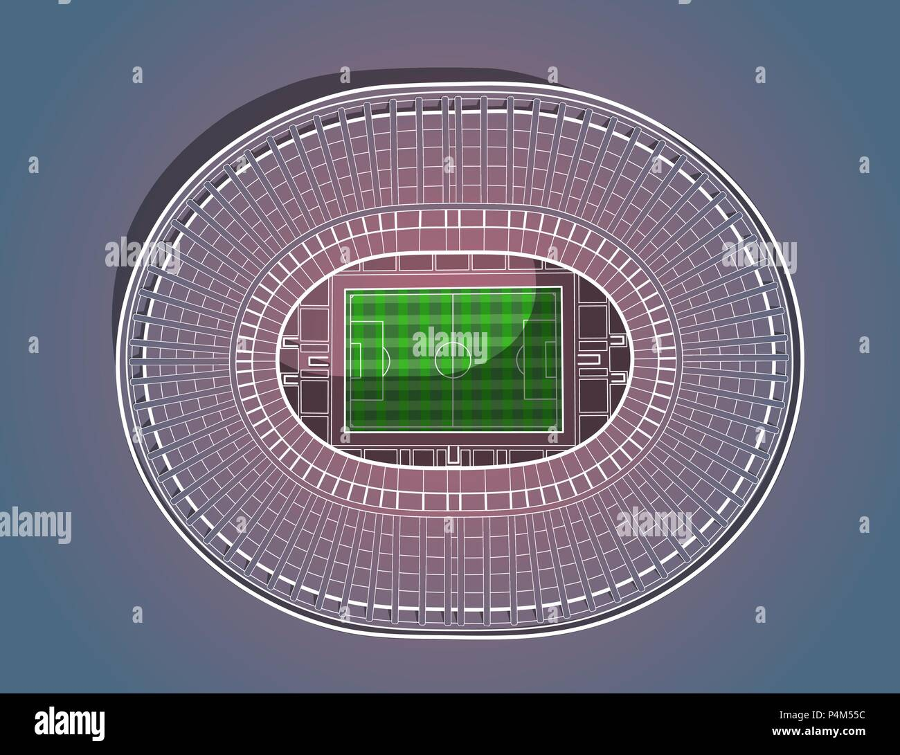 Hand drawn sketch of the main stadium in Moscow. - Stock Vector