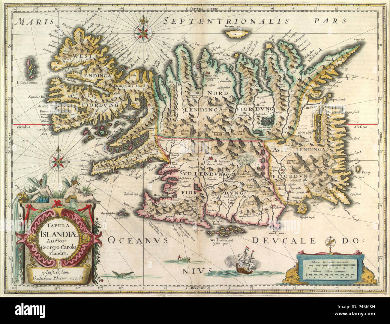 1630 IJsland Blaeu HR'. - Stock Image