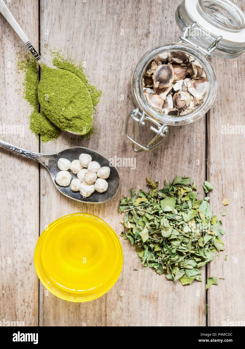 Various Moringa products - Stock Image