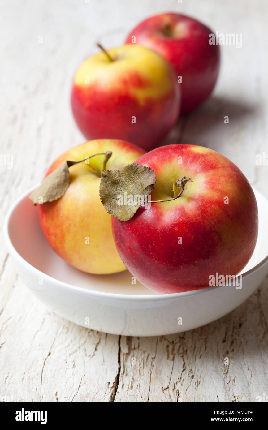 Fresh organic red apples - Stock Image