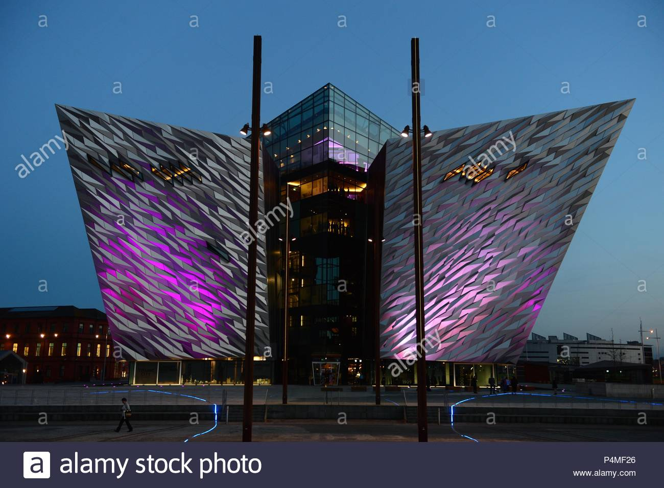 Titanic visitor centre in Belfast, Northern Ireland - Stock Image