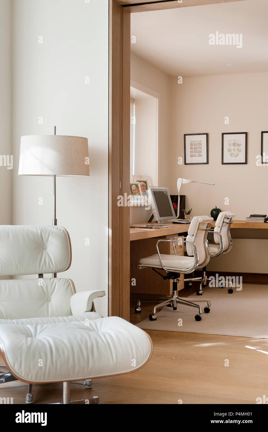 Armchair by office - Stock Image