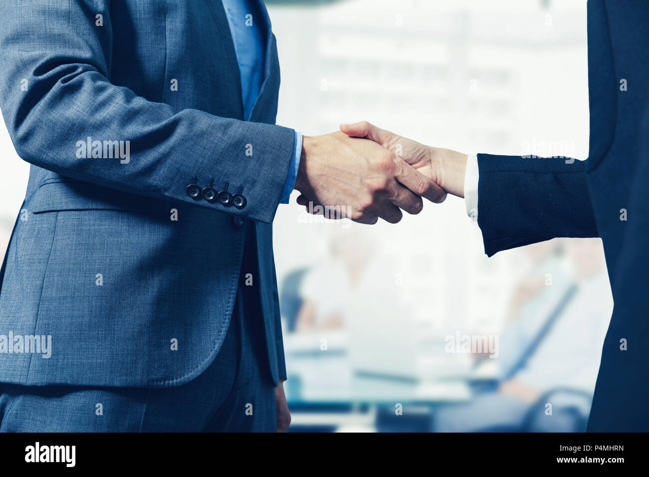 business people meeting and handshake in conference room - Stock Image