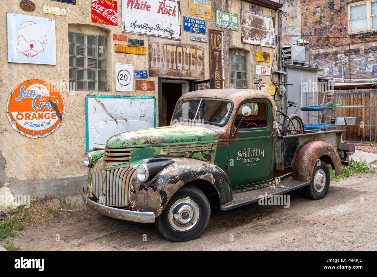 Old Rusty Chevrolet Truck Stock Photos 1942 Chevy Coe Antique Pick Up Salida Colorado Usa Image