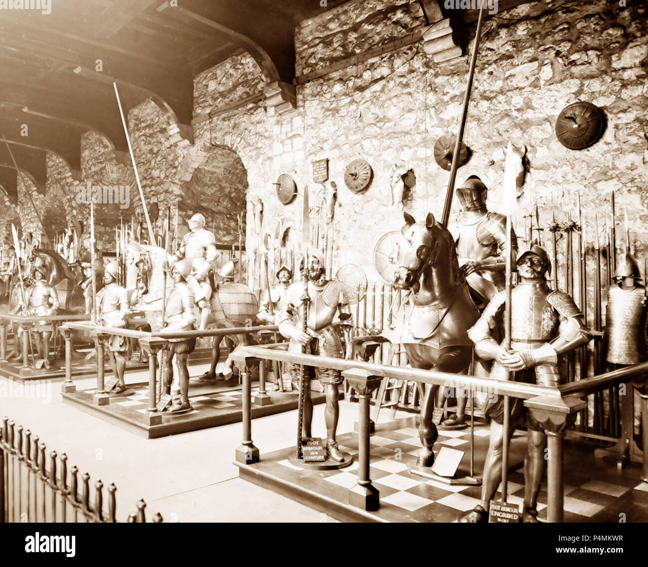 The Horse Armoury, Tower of London, Victorian period - Stock Image