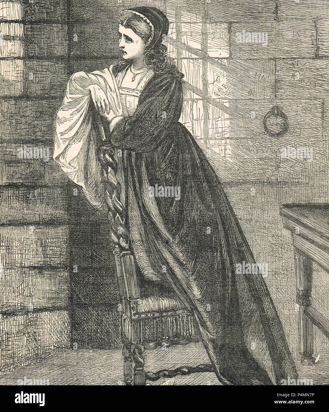 Lady Jane Grey, watching her husband pass to execution, 12 February 1554 - Stock Image