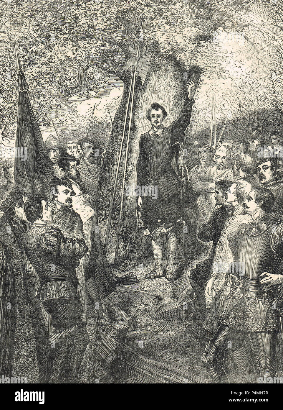 A meeting of the East Anglian rebels, Kett's Rebellion of 1549 Stock Photo