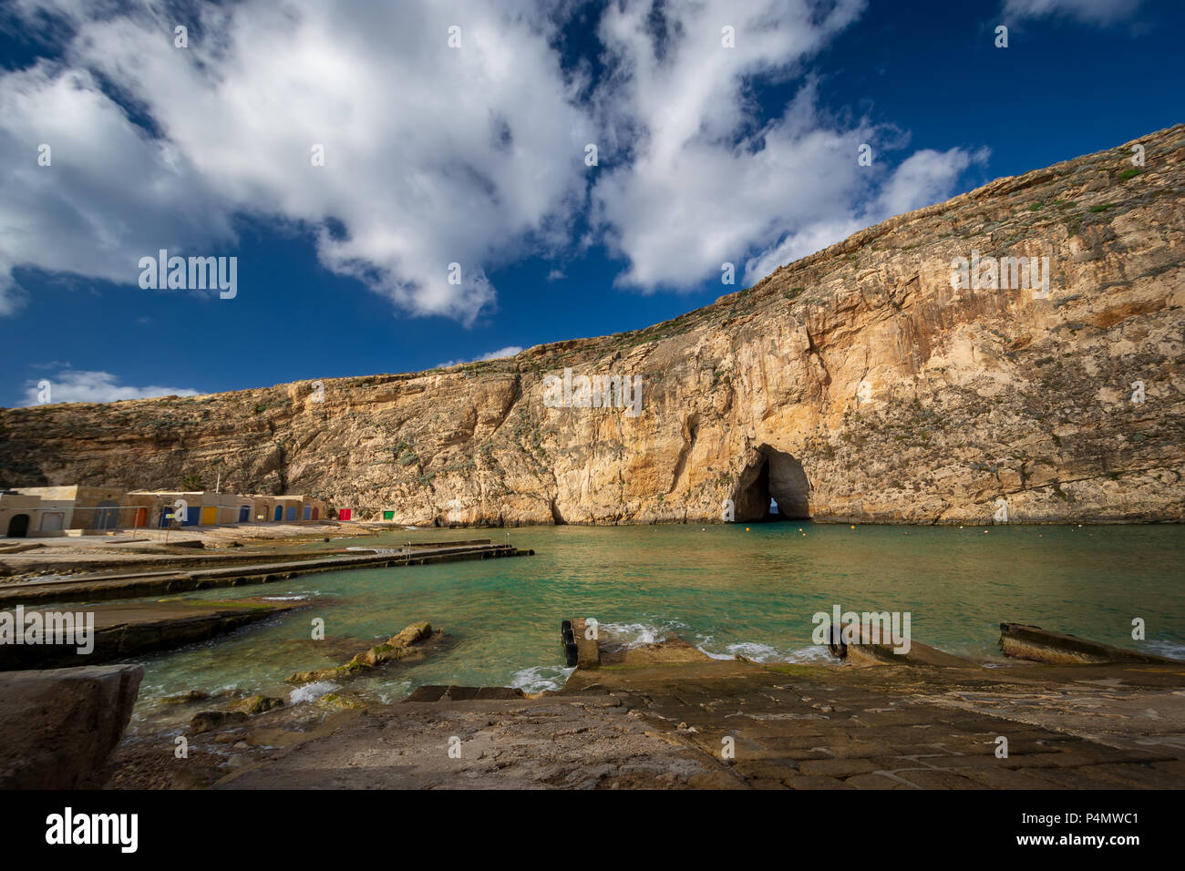 Inland Sea, Maltese famous landmark. Island of Gozo, Malta. Stock Photo