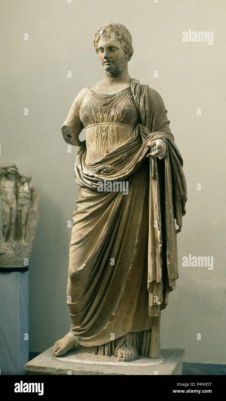 Ancient Gaia Statue greek art. statue of themis, daughter of gaia and ouranos