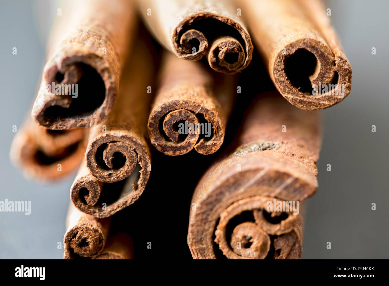 Several cinnamon sticks (close-up) - Stock Image