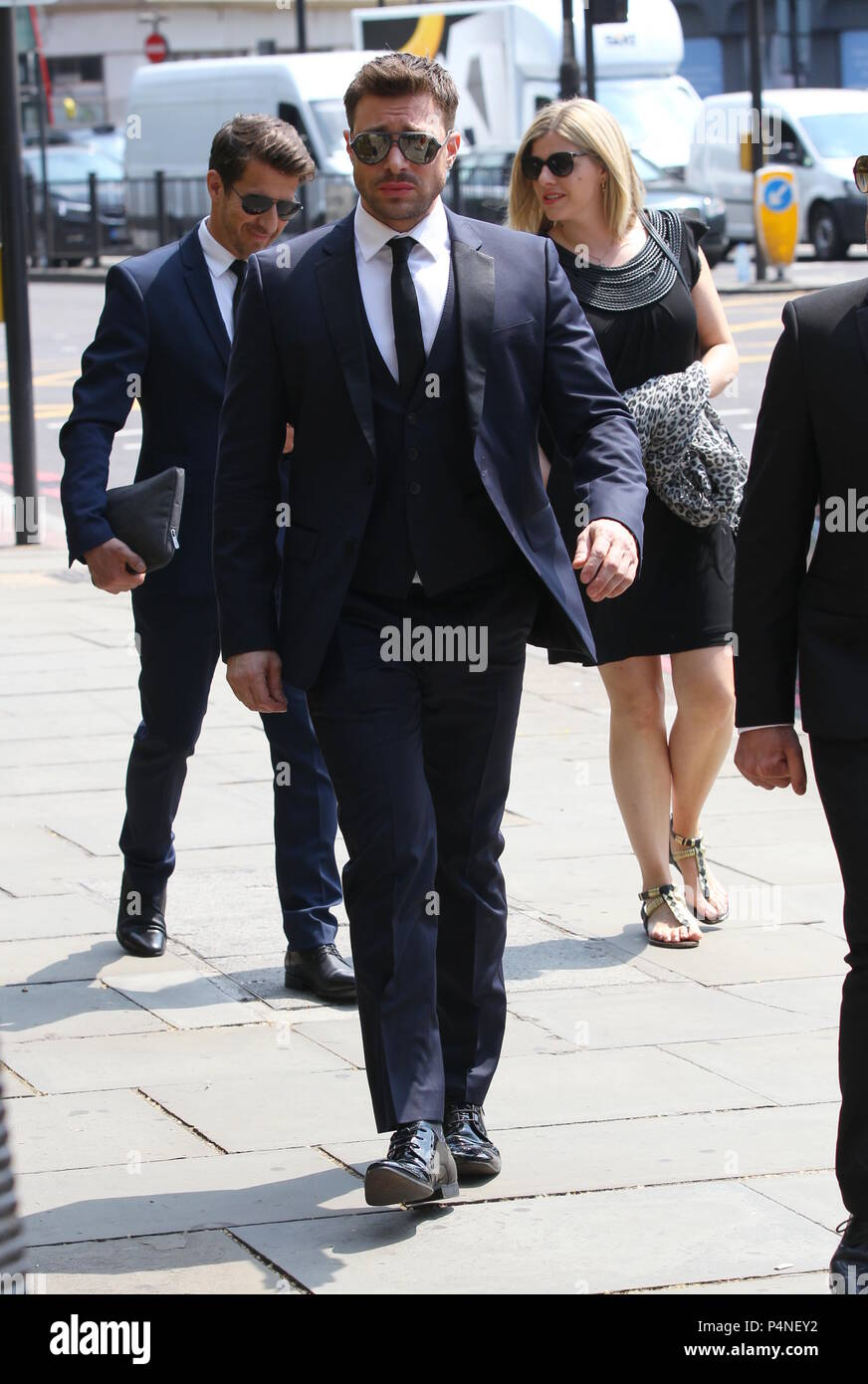 The funeral of Dale Winton at The Old Church in Marylebone
