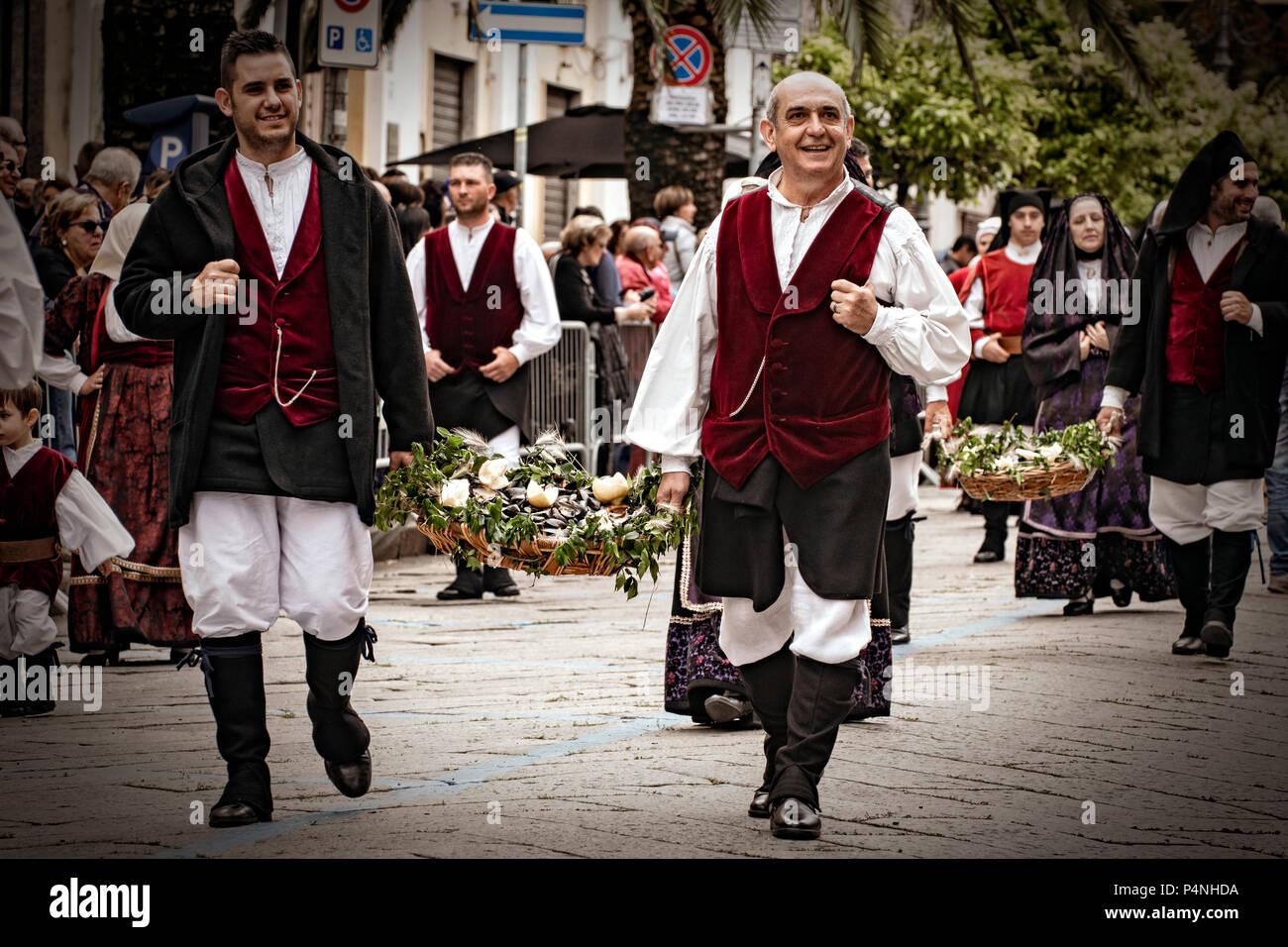 Italy Sardinia Sassari ' Cavalcata Sarda ' Festival - Olbia Dress - Stock Image