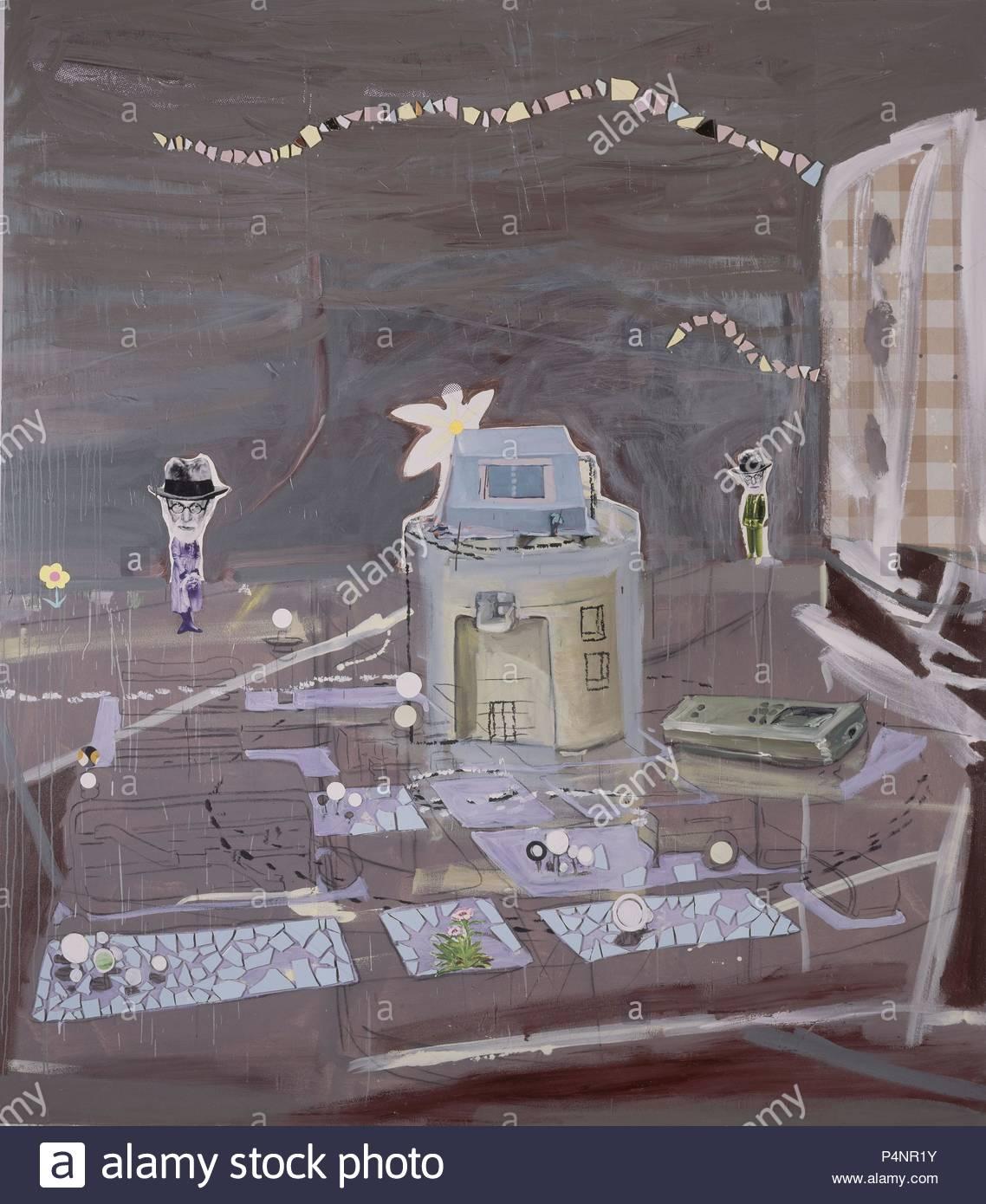 'Freud', 2008, Mixed media on canvas, 280 x 245 cm. Author: Juan Ugalde (b. 1958). Location: GALERIA SOLEDAD LORENZO, MADRID. - Stock Image