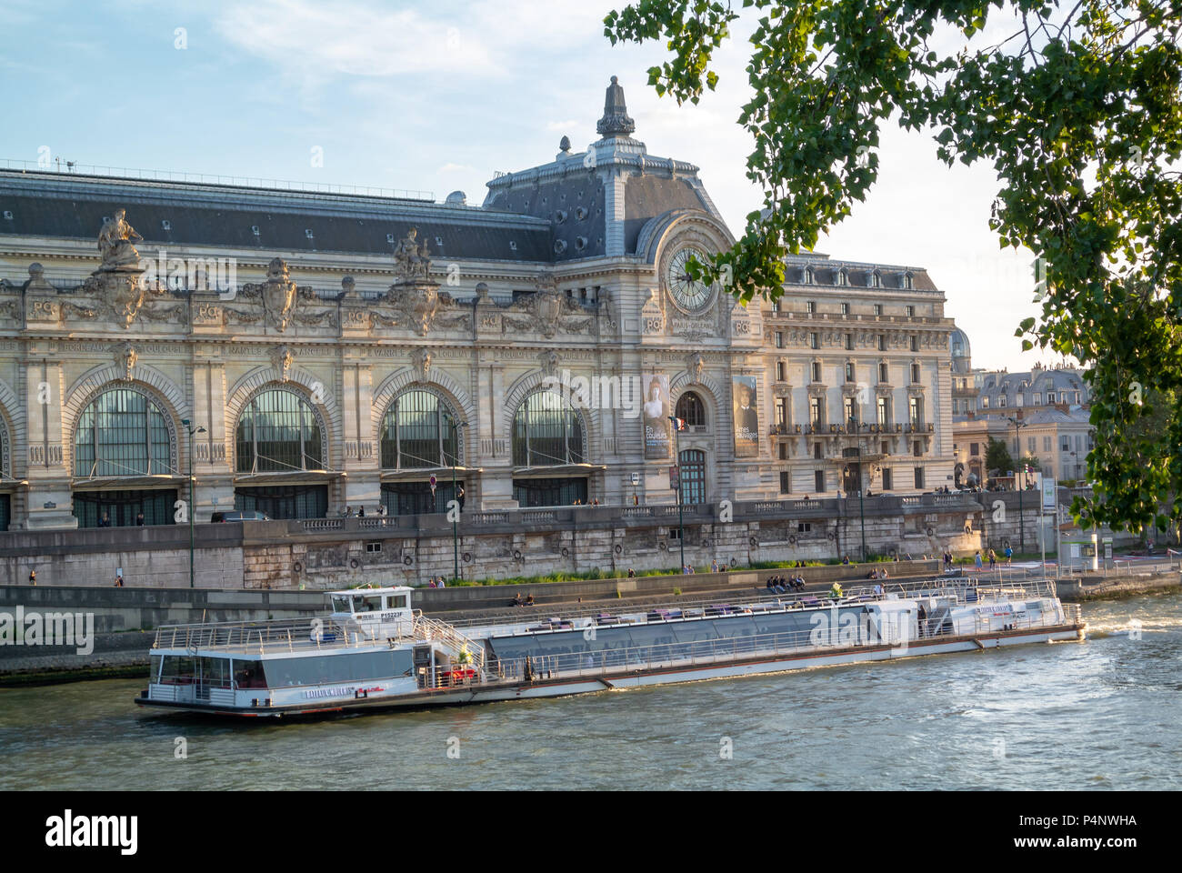 Orsay museum, Musee d'orsay which is a former Gare d'Orsay on Seine river, Paris, IDF, France - Stock Image