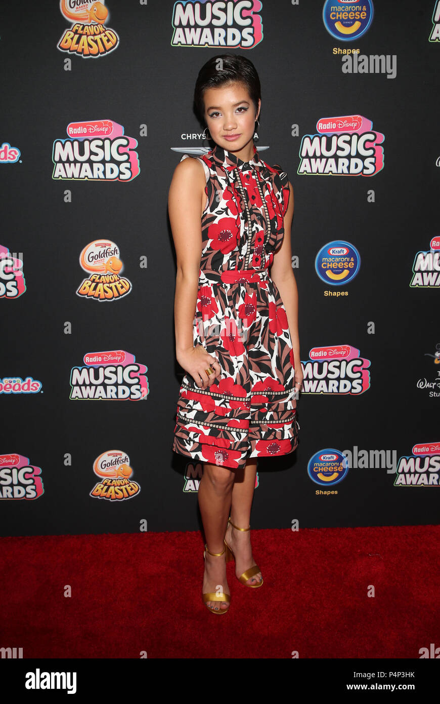 HOLLYWOOD, CA - JUNE 22: Peyton Elizabeth Lee, at the 2018 Radio Disney Music Awards at the Dolby Theatre in Hollywood, California on June 22, 2018. Credit: Faye Sadou/MediaPunch - Stock Image
