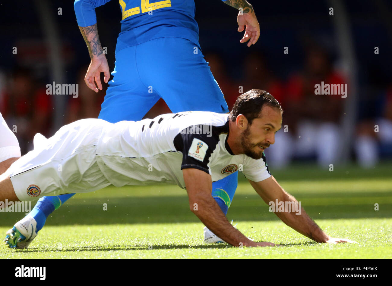 Saint Petersburg, Russia. 22nd June 2018.  UTERO in action during the Fifa World Cup Russia 2018, Group E, football match between BRAZIL V COSTARICA  IN Saint Petersburg Stadium. Credit: marco iacobucci/Alamy Live News - Stock Image