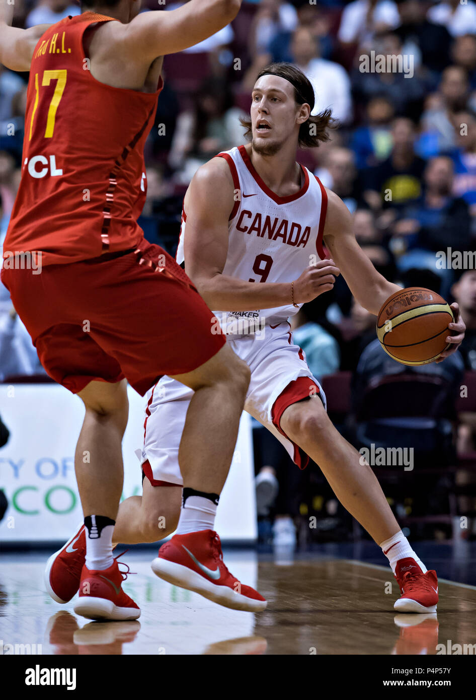 Vancouver, Canada  22nd June, 2018  Canada's Kelly Olynyk (R