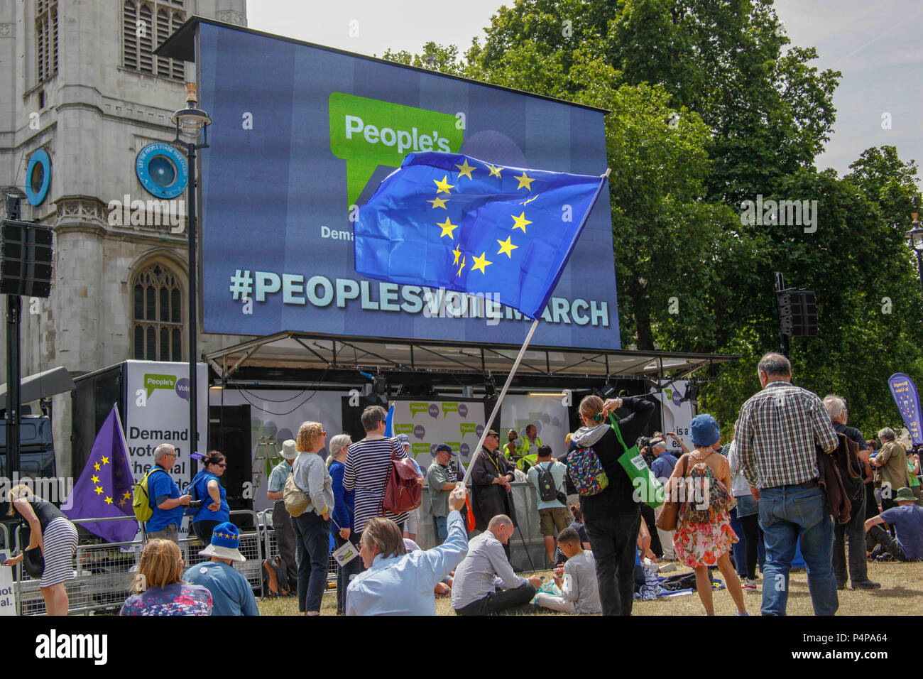 London, UK. 23rd June 2018. People's Vote March Credit: Alex Cavendish/Alamy Live News - Stock Image