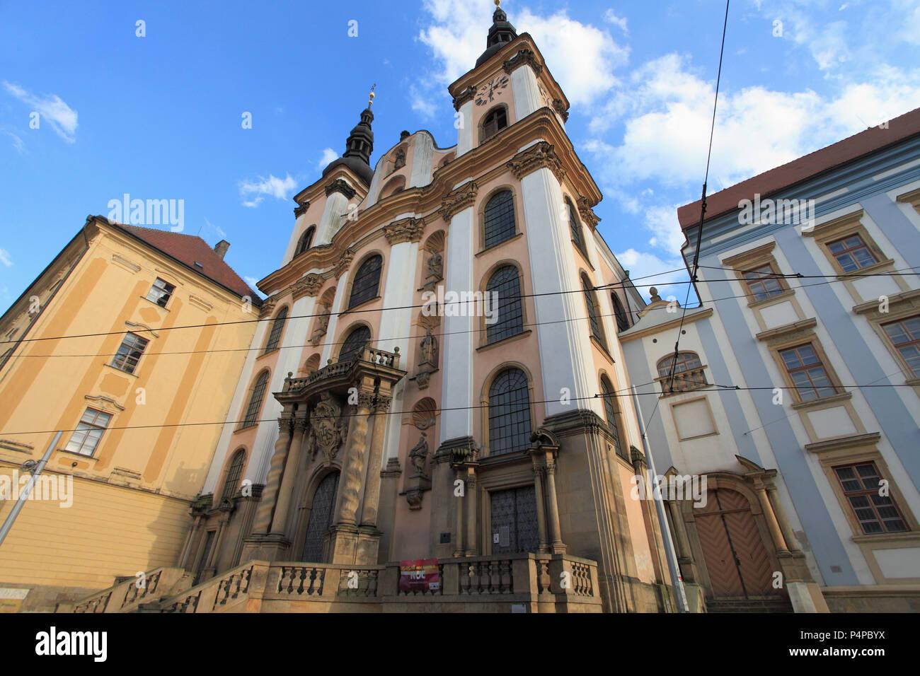 Czech Republic, Moravia, Olomouc, Our Lady of the Snows, church, - Stock Image