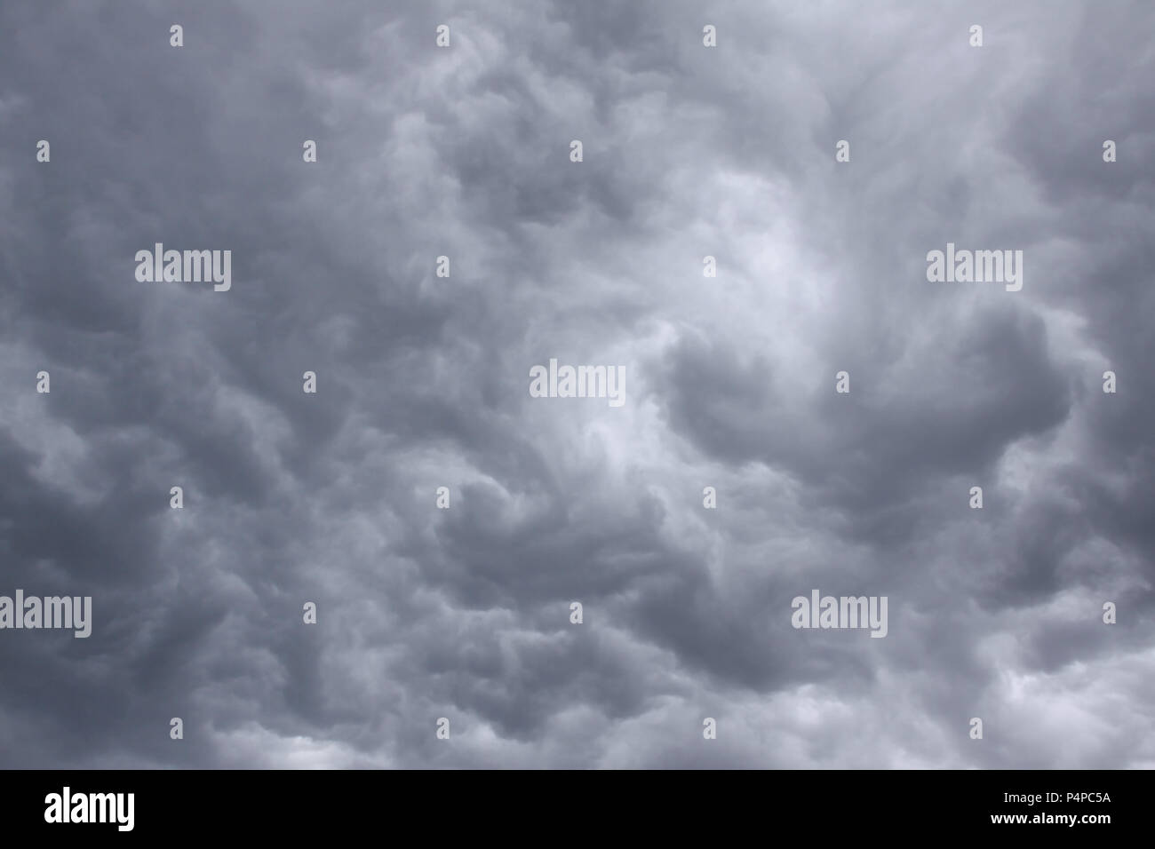 Sky with thunderclouds – rain clouds - Stock Image