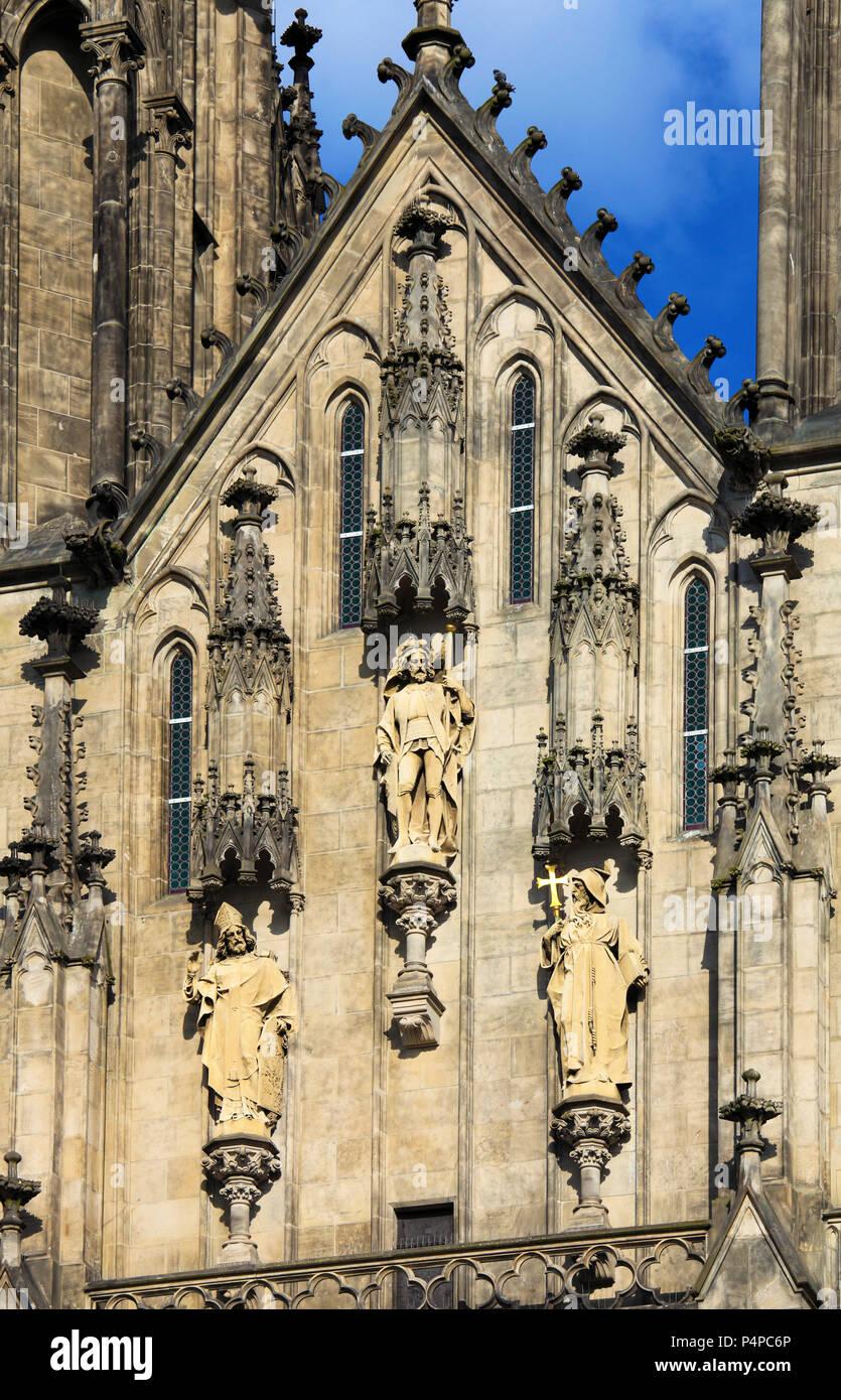 Czech Republic, Moravia, Olomouc, St Wenceslas Cathedral, - Stock Image