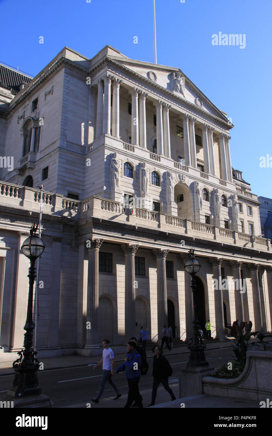 The Bank of England (owned by the UK Government) in the financial district of London, England, UK PETER GRANT - Stock Image
