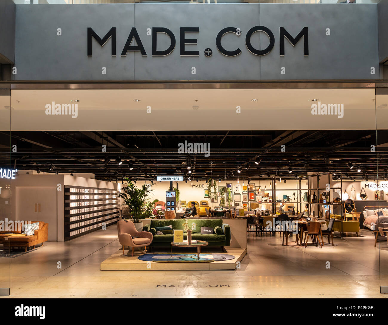 Entrance To The Made Com Furnishings Shop In The Mailbox Birmingham