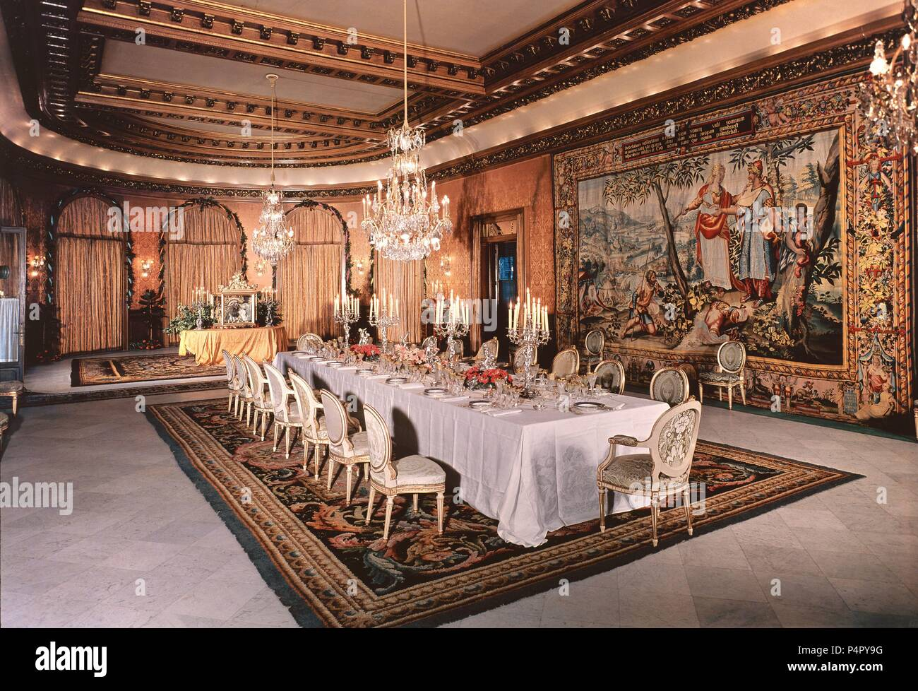 COMEDOR. Location: PALACIO DE PEDRALBES, BARCELONA, SPAIN Stock ...