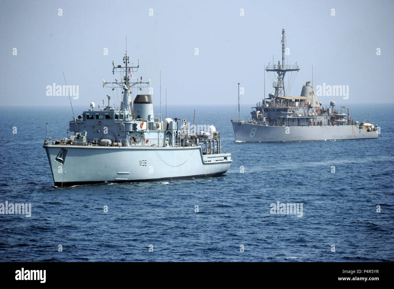 U.S. FIFTH FLEET AOR (Sept. 20, 2012) IMCMEX 12 includes navies from more than 30 countries whose focus is to promote regional security through mine countermeasure operations in the U.S. 5th Fleet area of responsibility. - Stock Image