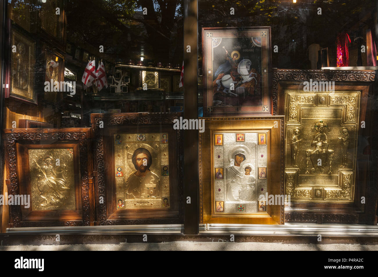 Georgia, Tbilisi, Old Town, religious paintings for sale
