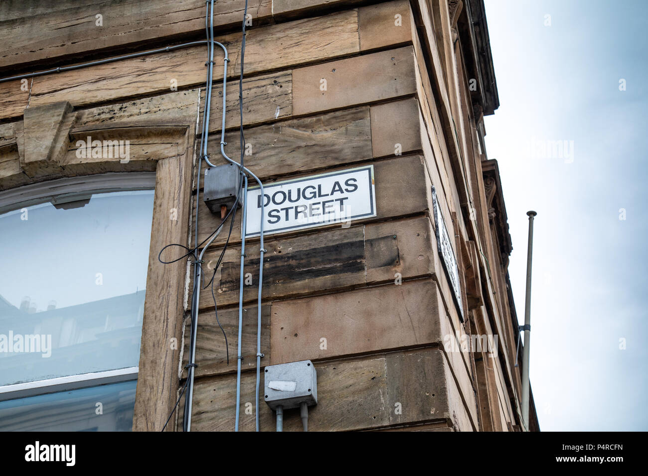Douglas Street in Glasgow city centre - Stock Image