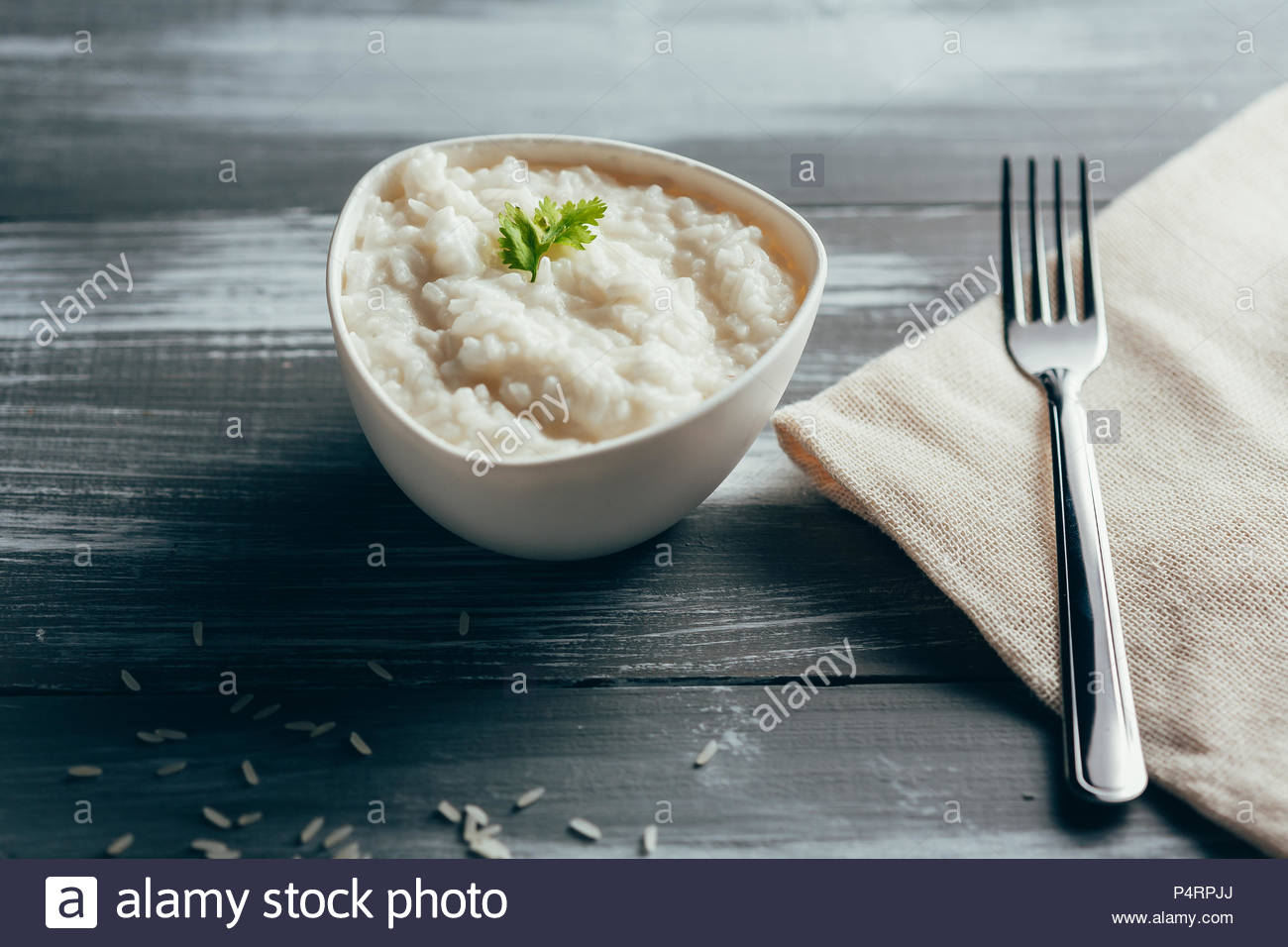 Arroz de leite - rice with milk - typical salty recipe from the Brazilian Northeast - Stock Image