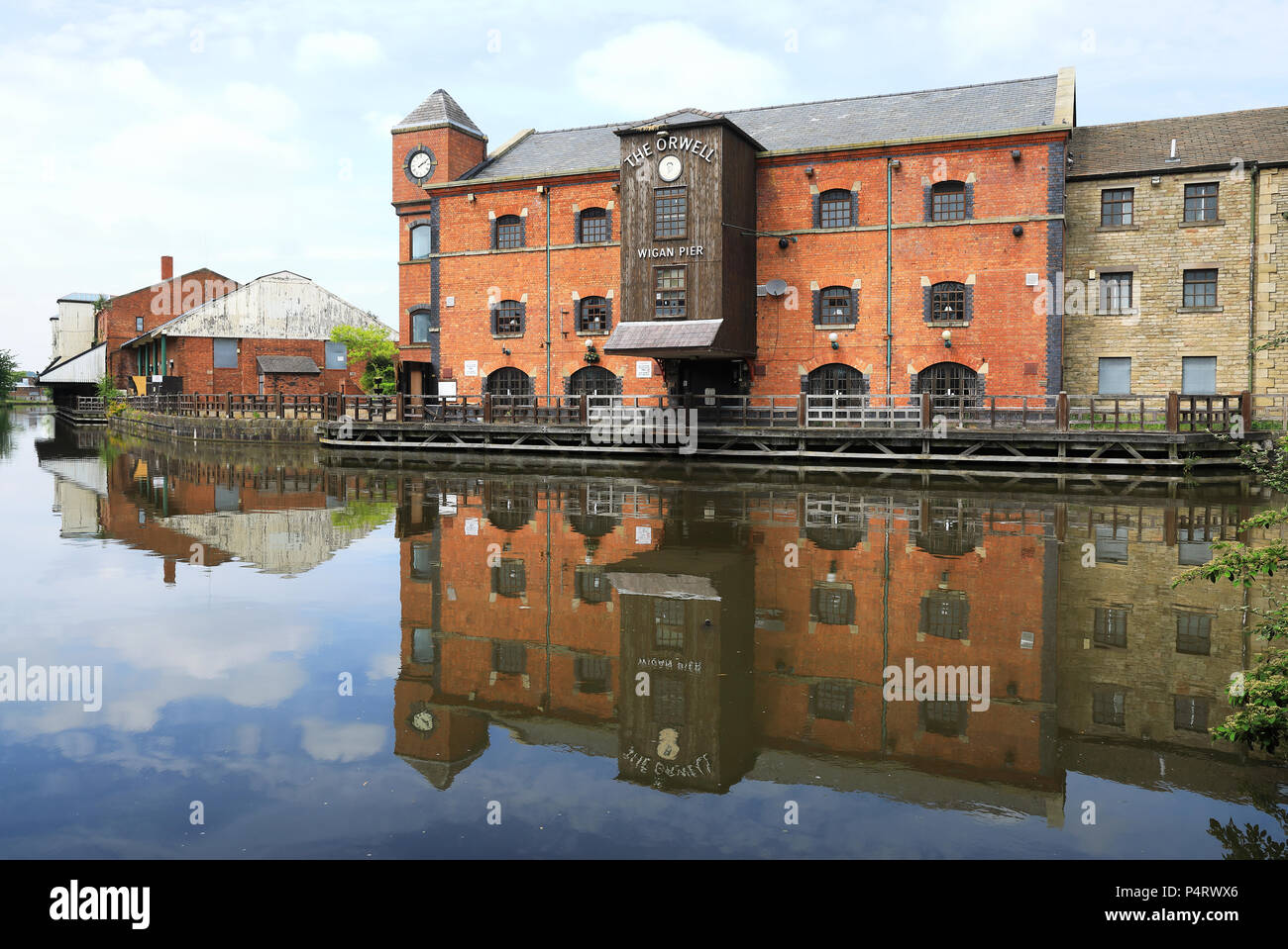 Wigan Pier, made famous by George Orwell, in Lancashire in NW England, UK - Stock Image